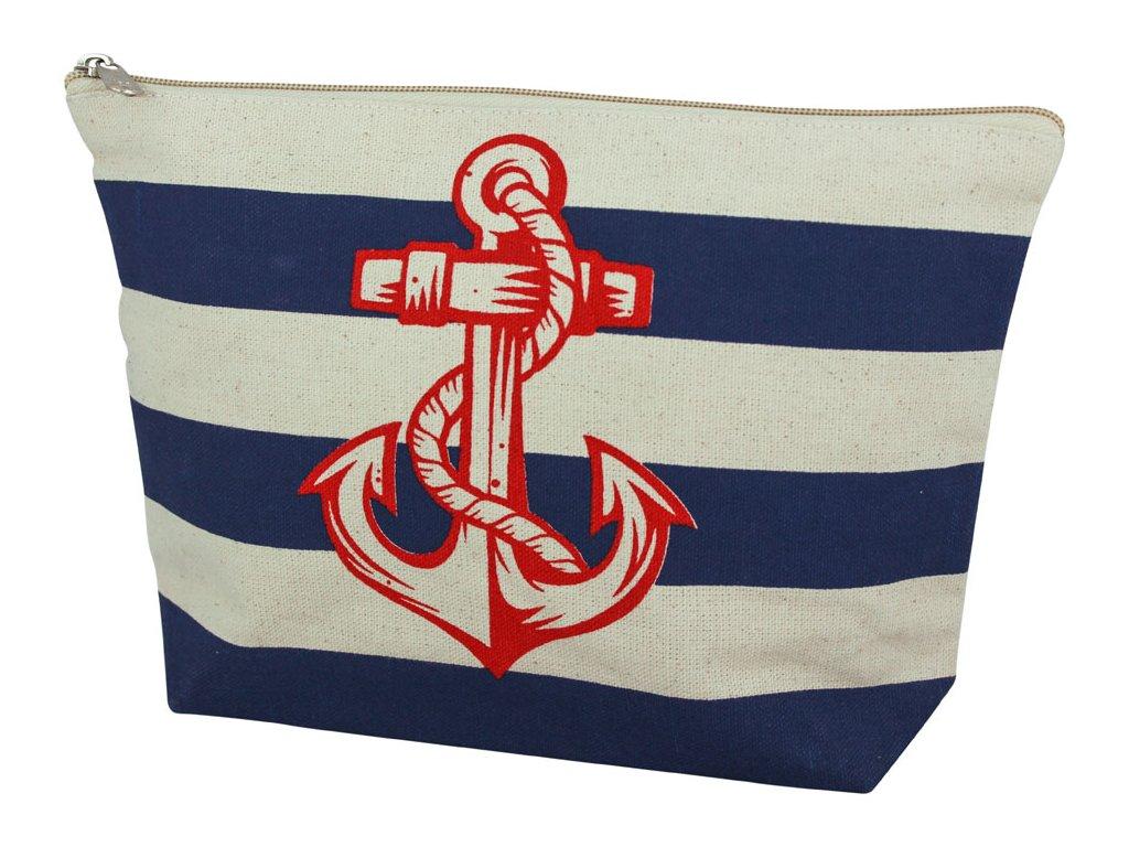 Taštička kabelka námořnická s kotvou a pruhy 9871