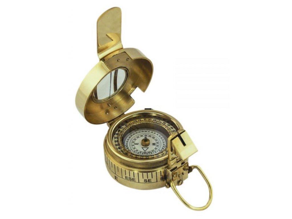 Mosazný těžký náměrový kompas Ø 10,5 cm 9506