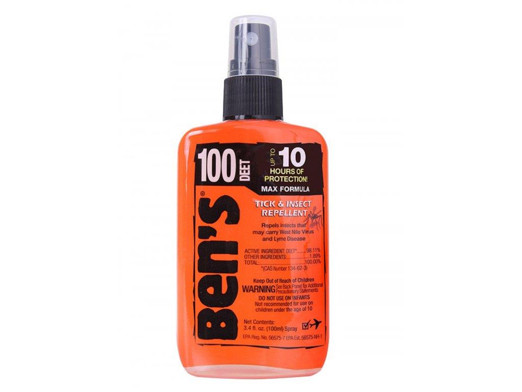 Repelent proti hmyzu BENS 100% DEET 100 ml