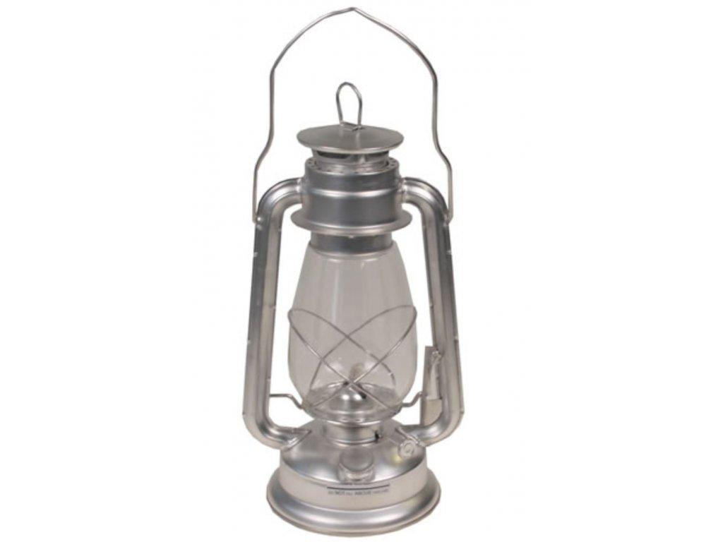 Lampa petrolejová Zinek 30cm STŘÍBRNÁ