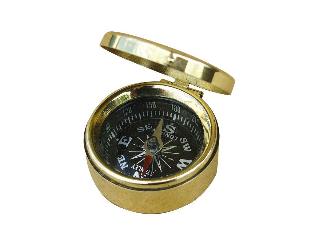 Malý mosazný kompas s víkem Ø 3,5 cm 9239