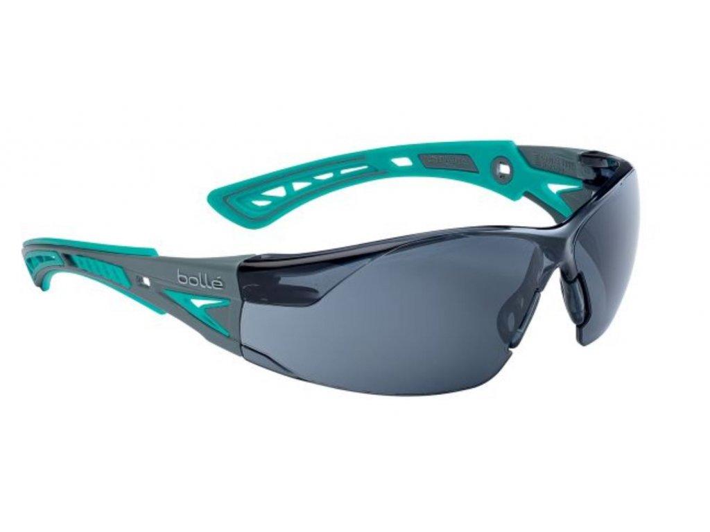 Brýle balistické ochranné BOLLE RUSH+ SMALL TYRKYSOVÉ KOUŘOVÉ