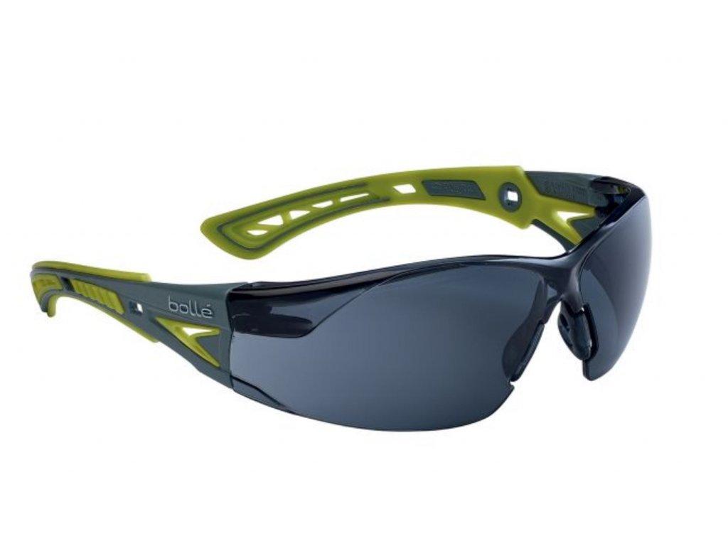 Brýle balistické ochranné BOLLE RUSH+ SMALL ZELENÉ KOUŘOVÉ