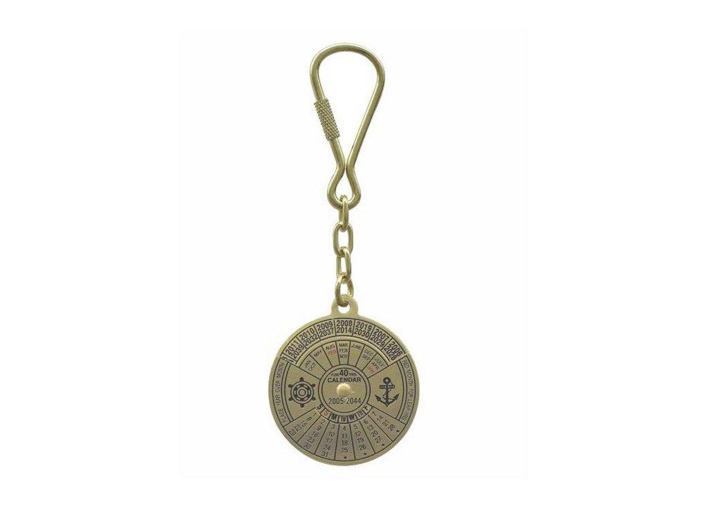 Přívěsek na klíče kalendář mosaz