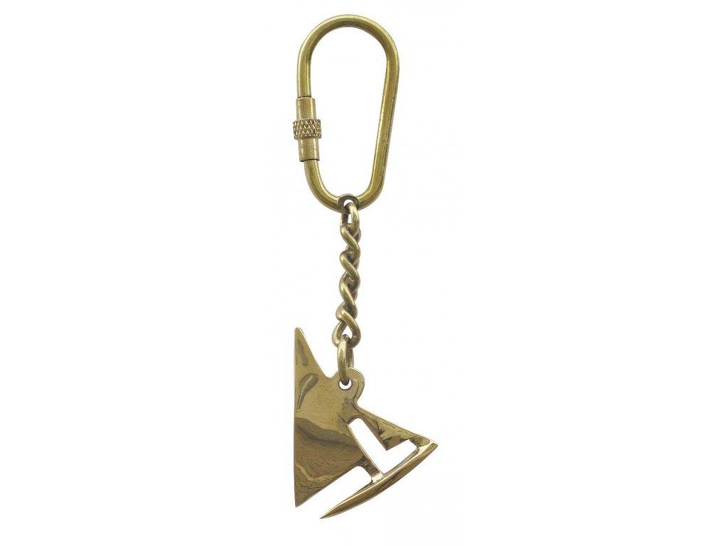 Přívěsek na klíče mosaz plachetnice