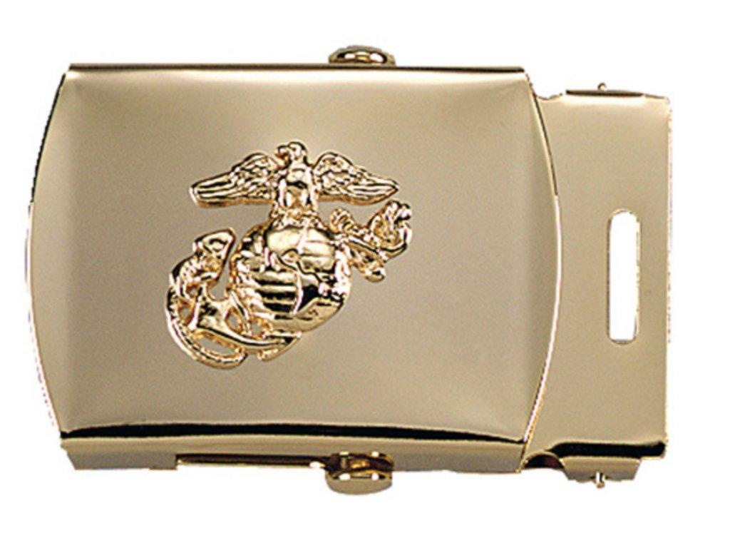 Přezka na pásek s USMC symbolem MOSAZNÁ