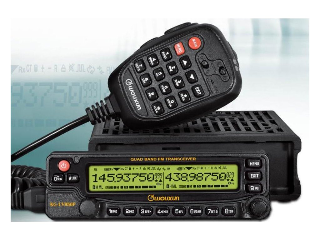 WOUXUN KG-UV950P quad-band HF/VHF/UHF