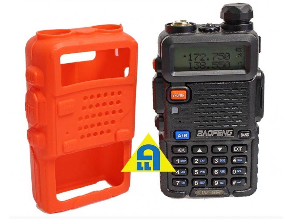 Silikonové ochranné pouzdro BAOFENG oranžové