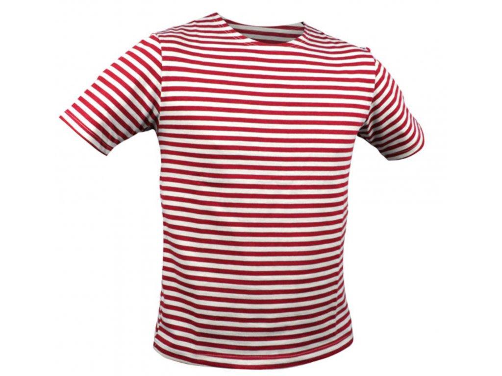 Námořnické triko MARINE krátký rukáv ČERVENÉ