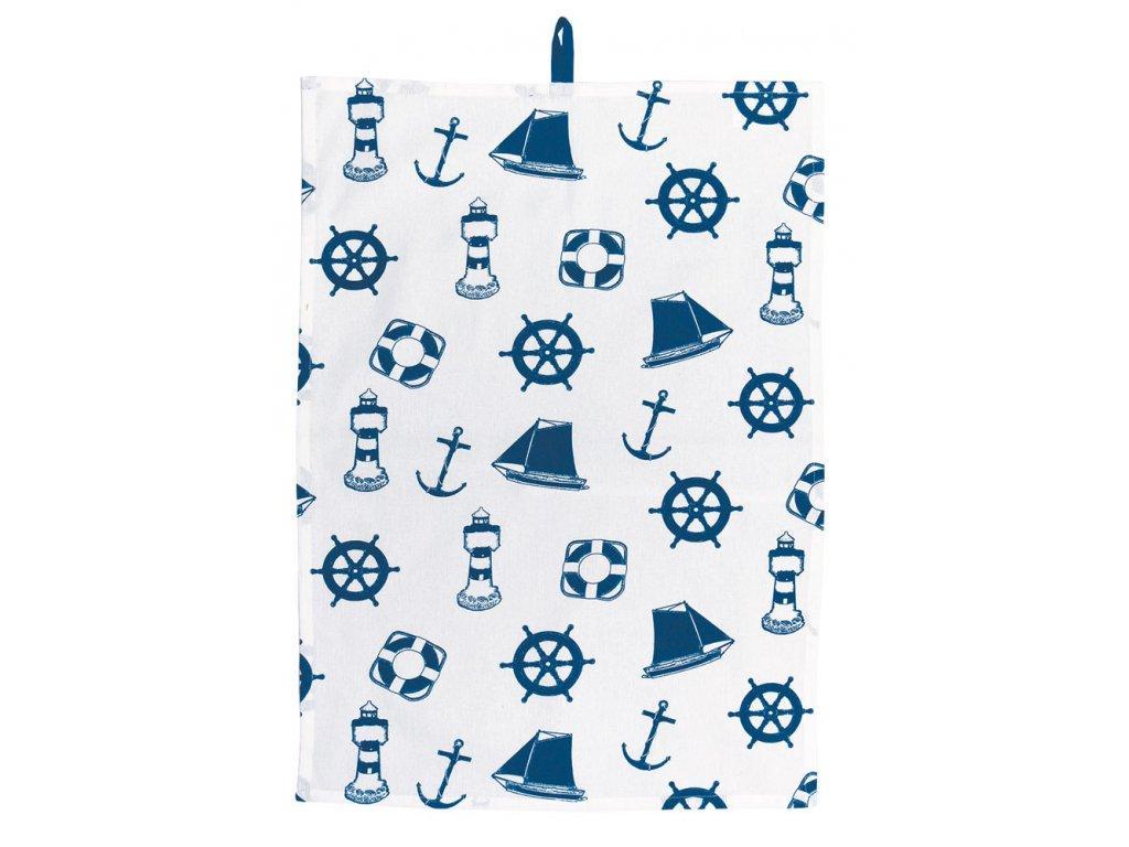 Kuchyňský ručník MARITIME námořnický s kotvami 3222
