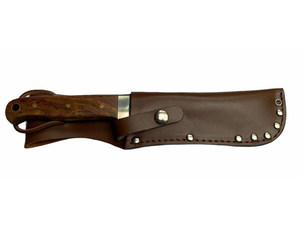 Nůž námořnický BW s pevnou čepelí dřev. střenka pouzdro kůže