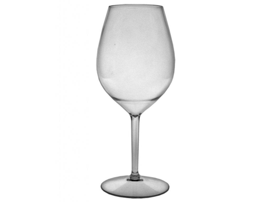 Nerozbitná sklenice na víno- plastová sklenice Wine Big 510 ml ČIRÁ