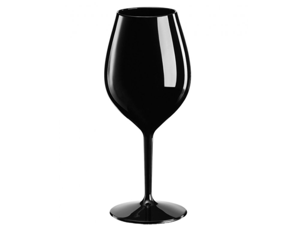 Nerozbitná sklenice na víno- plastová sklenice Wine Big 510 ml ČERNÁ
