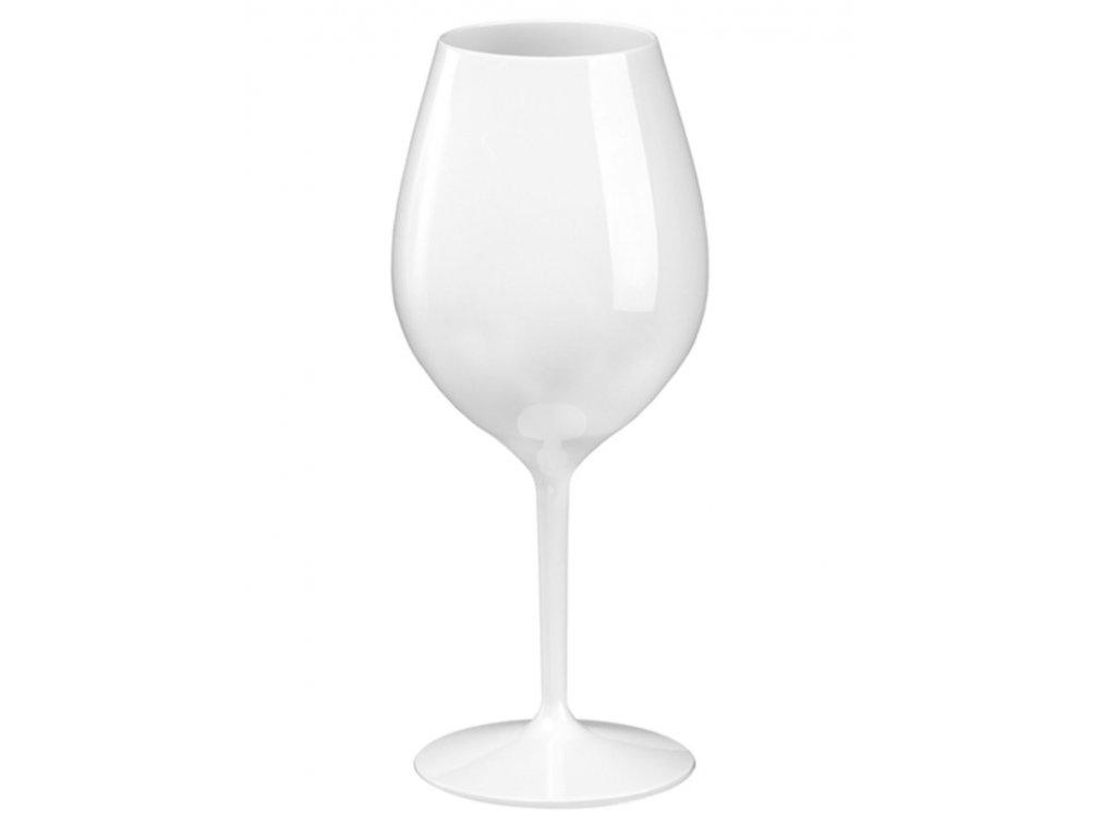 Nerozbitná sklenice na víno- plastová sklenice Wine Big 510 ml BÍLÁ