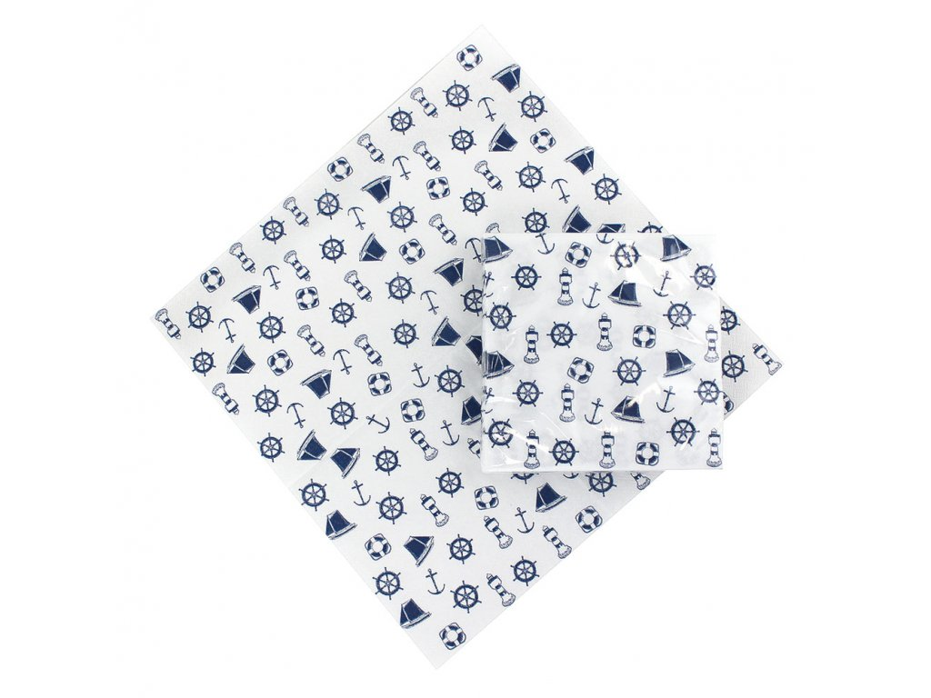 Papírové ubrousky námořnické 20 ks 3226