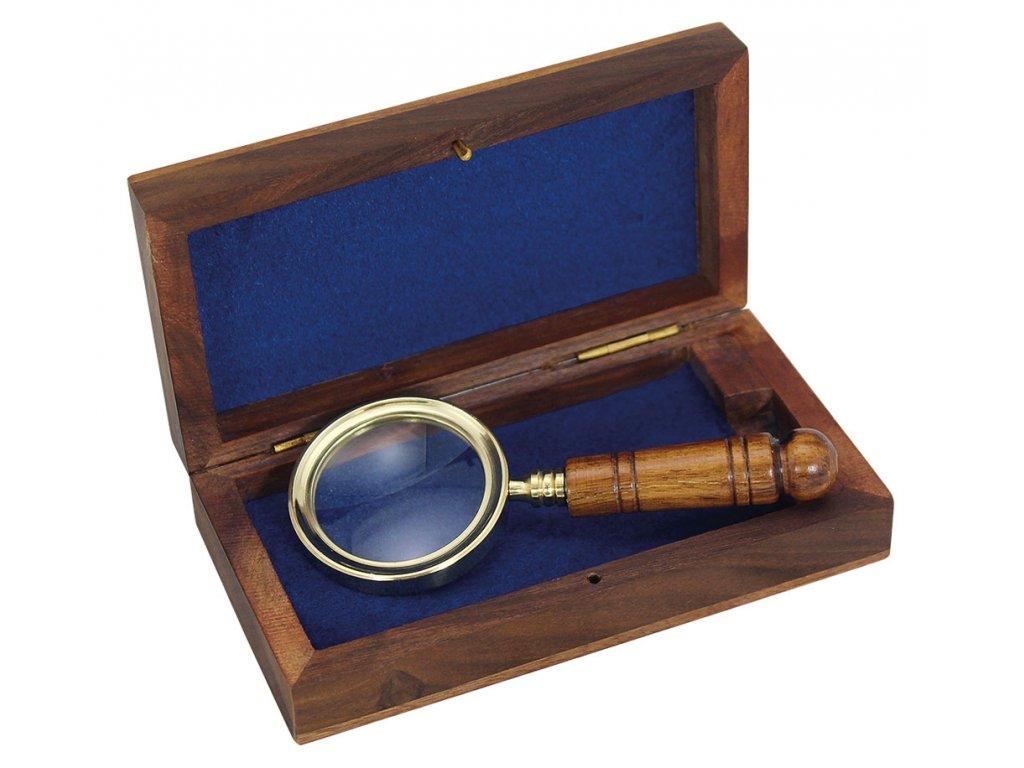 Lupa délky 11 cm v dřevěném boxu