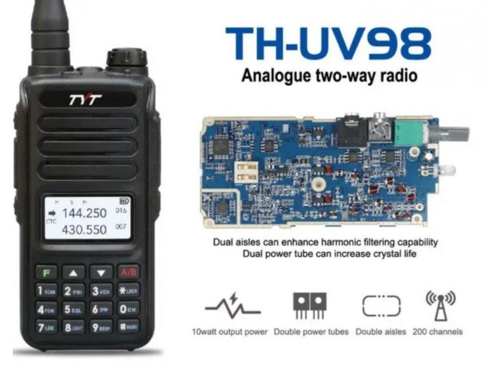 TYT TH-UV98 10W dualband VHF/UHF  + Naprogramováno