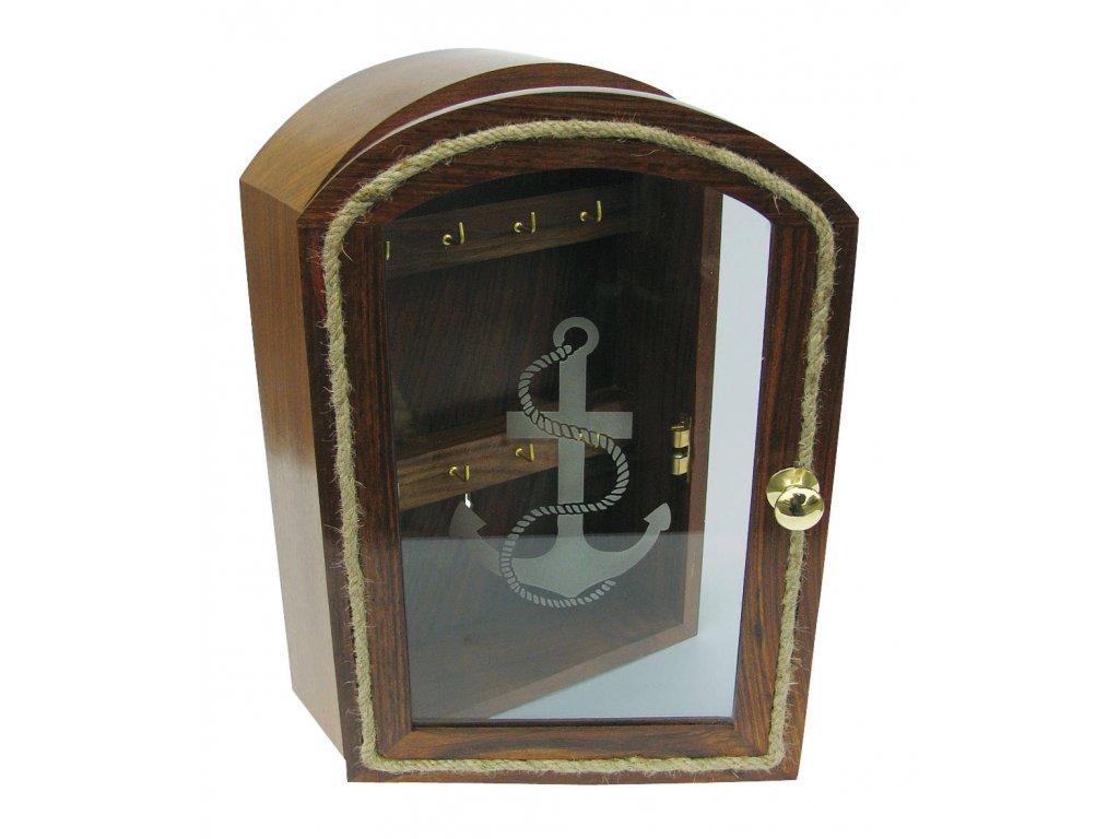Skříňka na klíče - key box ve tvaru lodě 9322