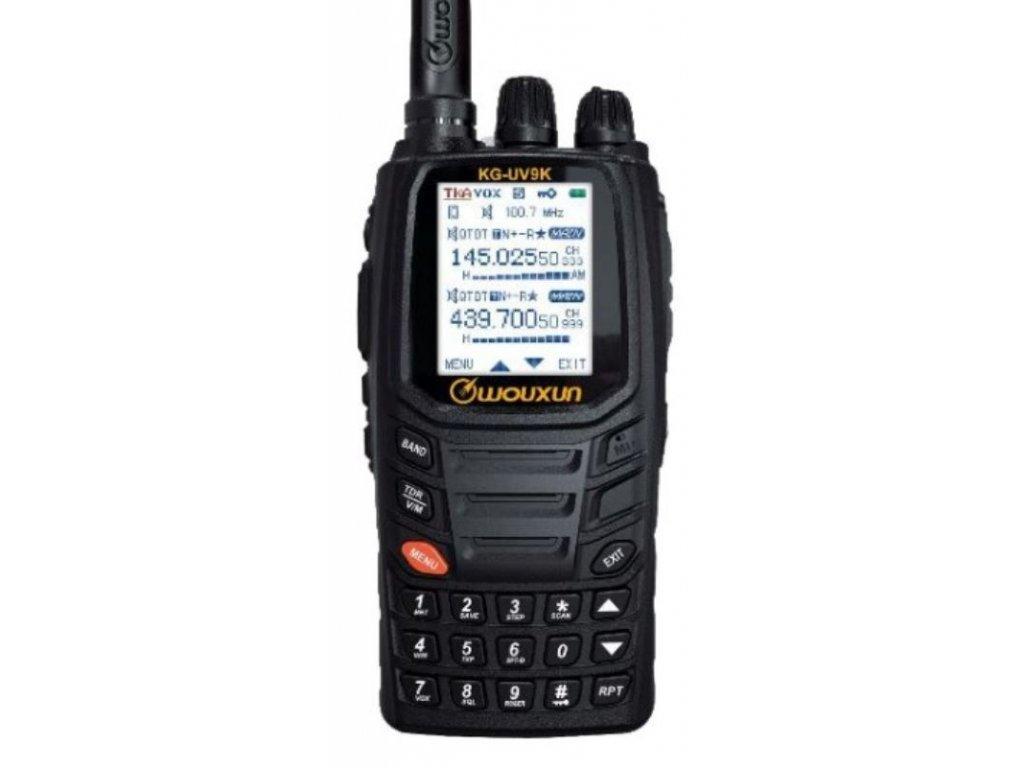 WOUXUN KG-UV9K , dualband VHF/UHF + AIR 8,33kHz!  + doprava zdarma