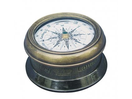 Kompas s větrnou růžicí antik mosaz