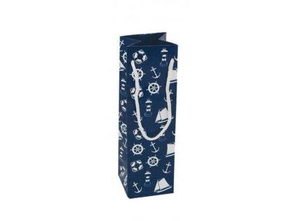 Dárková taška námořnická 10x10x35 cm