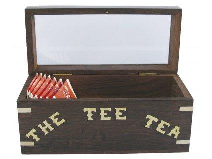 Dřevěná truhlice námořnická - krabička na čaj - Teabox