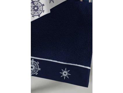 Osuška MARINE LADY 85 x 150 cm Tmavě modrá