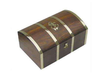 Dřevěná truhla - box s kotvou 22 cm