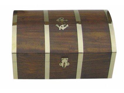 Dřevěná truhla - box s kotvou 26 cm 2014
