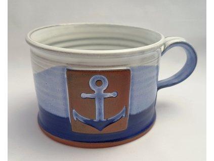Hrnek široký námořnický s kotvou