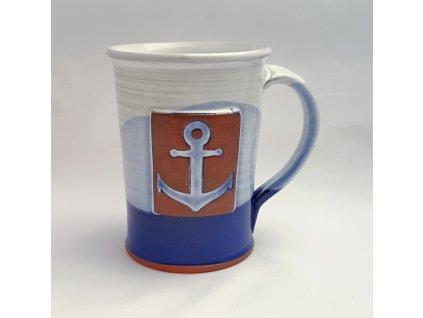 Hrnek štíhlý námořnický s kotvou