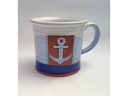 Hrnek rovný námořnický s kotvou