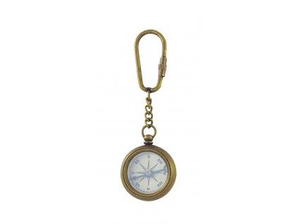 Přívěsek na klíče kompas mosaz antik 8544