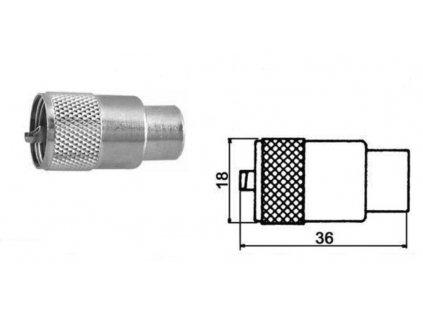 Konektor PL-9 SO239 RG-213