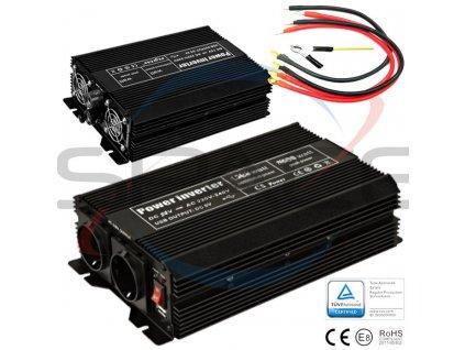 Měnič 24V/230V 3000W (6000W)