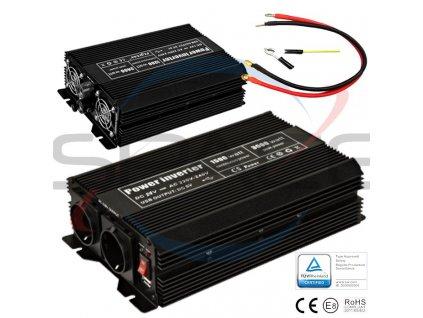 Měnič napětí 24V/230V 1500W (3000W)