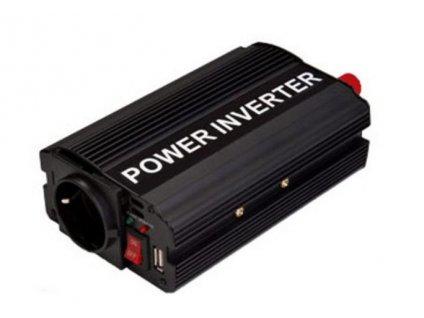 Měnič 12V/230V 300W (600W) + USB