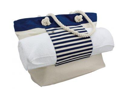 Taška námořnická plážová s držákem na ručník
