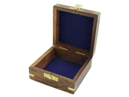 Dřevěný box 7,5x7,5 cm s kotvou