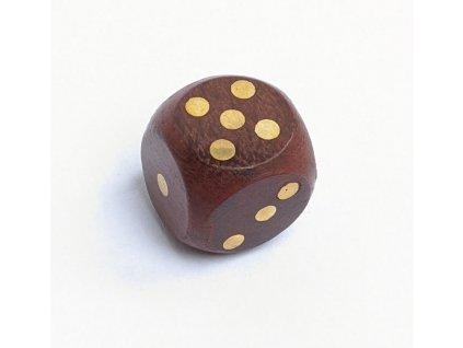 Hrací kostky dřevěné v kulaté dóze s víčkem 7,5 cm