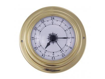 Mosazné hodiny 24h číselník 9,8 cm 9405