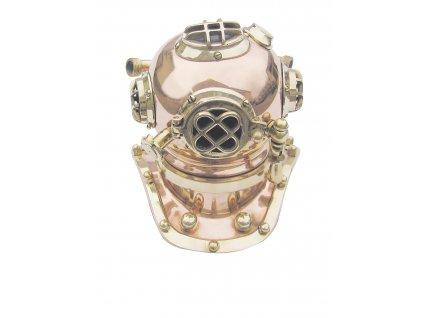 Potápěčská helma - přilbice mosazná 19 cm