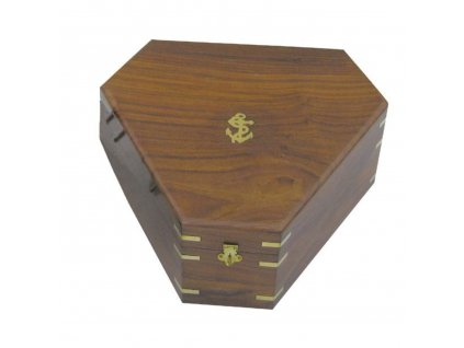 Dřevěná truhlice - krabička k sextantu 8202S