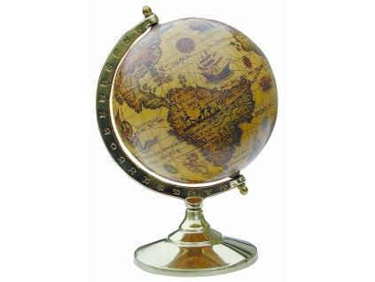 Glóbus zeměpisný retro 15 cm