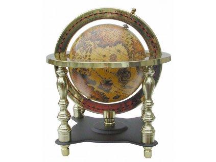 Glóbus zeměpisný retro 18 cm