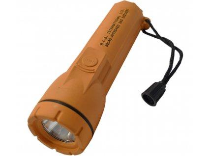 Svítilna FFLAM vodotěsná záchranná námořní LED ORANŽOVÁ