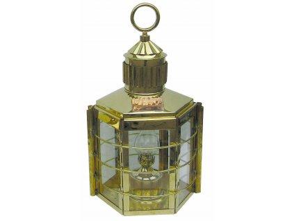 Petrolejová lampa námořnická mosazná - clipper