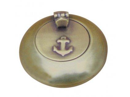 Popelník kapesní s poklopem antik 6 cm 8503