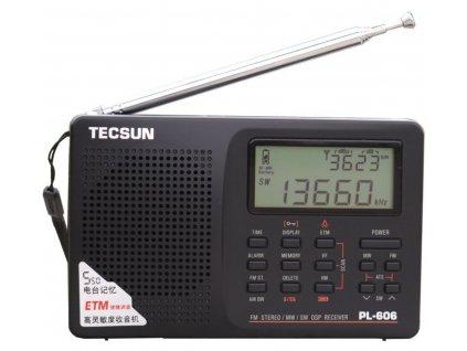 Tecsun PL-606 přijímač  + doprava zdarma
