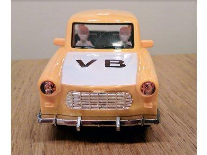 Trabant žlutý VB se zvukem na setrvačník 18 cm